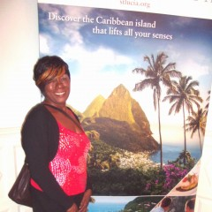 Deloris Francis at St. Lucia High Comm. 2014