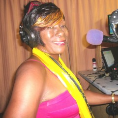 Deloris at Love FM. St. Lucia 2014