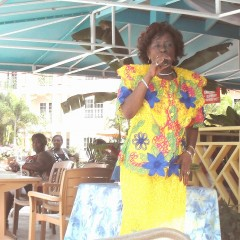 Deloris Francs in Caberet at Bay Grdens Rest.